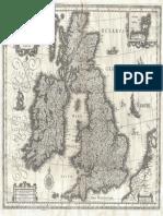 Blaeu Map of the British Isles, 1631
