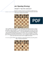 basic chess opening strategy 1