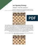 basic chess opening strategy 1