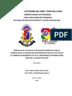 MECANICA DE SUELOS II, PROPUESTA DE PLAN DE CLASE Y PRACTICAS