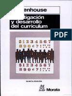 Investigacion y Desarrollo Del Curriculum (Stenhouse, 2003)