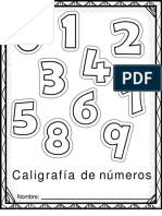 Cuaderno de Grafomotricidad Números Del Cero a Diez