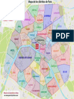 Plan Des Quartiers de Paris