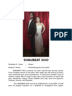 Shaubeat Duo for Audition