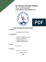 Informe - Visita Planta de Asfalto