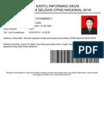 Kartu Info Akun Cpns