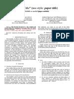 IEEE Journal Template