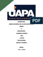 Tarea 5 de Lengua Española