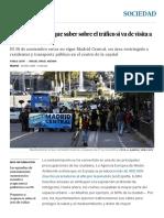 Todo Lo Que Tiene Que Saber Sobre El Tráfico Si Va de Visita a Madrid _ Sociedad _ EL PAÍS