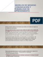 Nuevos modelos de negocio en comunicación y probabilidad de emprendimiento