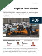 GP de Abu Dhabi F1_ Fernando Alonso Se Despide de La Fórmula 1 en Abu Dabi Entre Homenajes _ Deportes _ EL PAÍS