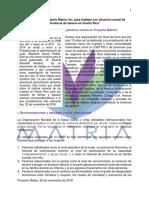 Propuestas de Proyecto Matria Para Erradicar Violencia Hacia Las Mujeres- 2018