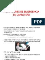Actuaciones de Emergencia en Carretera