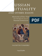 Russian Spirituality and Other Essays Valentin Tomberg