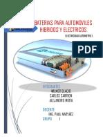 Baterias Para Vehiculos Electricos e Hibridos