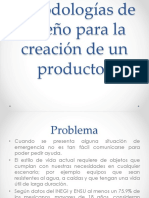 Metodologías de diseño para la creación de un producto