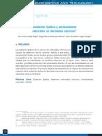 Oxidacion lipidica