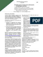 Alternativa informática para el manejo de la información climatológica nacional