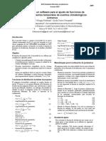 Desarrollo de un software para el ajuste de funciones de distribución en series temporales de eventos climatológicos extremos