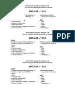 Lista Utiles INSTITUCIÓN EDUCATIVA INICIAL N.docx