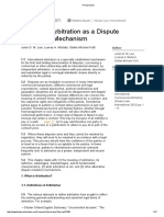 Arbitration as Dispute Resolution Mechanism - IL. IA