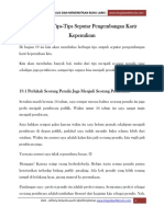 Bagian 19 Tips-Tips Seputar Pengembangan Karir Kepenulisan