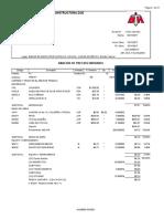 Precio Unitario de Tanque de Regulacion