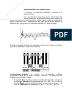 Alteraciones Musicales Para Escalas Mayores