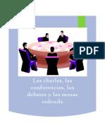 Conferencias, las charlas, debates y mesas redondas