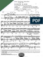 Scheidler, Christian Gottlieb - Sonata in RE (2 Guitars)