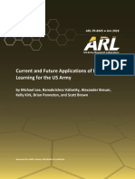 ARL TR 8345 Machine Learning