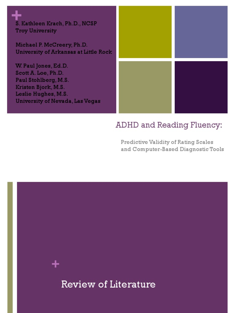 ADHD and Reading Fluency