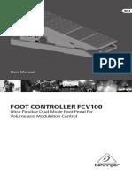 Behringer FCV100 User Manual