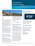 PMI Tunisia Chapter - AnnualEventProgram2018 - 23092018 DRAFT VERSION