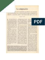 Lewontin. La Adaptación. 1978 (Recuperado 1)