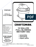 Craftsman Shop Vac Manual