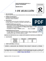 CepreUNI Examen Seleccion 2013II