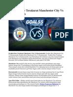 Prediksi Skor Terakurat Manchester City vs Bournemouth 1 Desember 2018