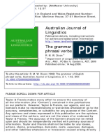 Australian Journal of Linguistics Volume 2 Issue 1 1982 [Doi 10.1080%2F07268608208599280] Dixon, R. M. W. -- The Grammar of English Phrasal Verbs (1)