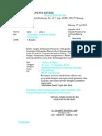 Surat Refreshing Kdr