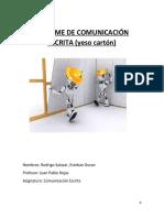 Informe Comunica.. Escrita