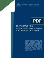 Operaciones Con Equipos y Accesorios de Levante o Izaje
