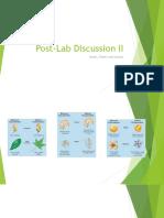 Post Lab Discussion II