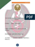 Peeinforme N°02 QUIMICA INDUSTRIAL II