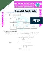 Ficha Estructura Del Predicado Para Quinto de Primaria