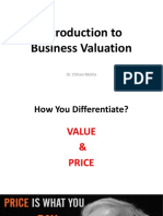 1 - Introduction to Valuation