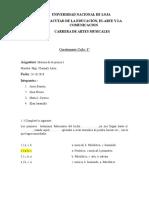 Cuestionario Grupo Numero 1 (Origenes de La Musica)