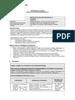 Programa de Estudio Programa de Estudio Proyecto de Accioìn Profesional IV (Plan 2013) (1)