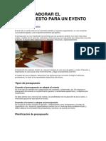 El Proceso Administrativo y La Organización de Eventos