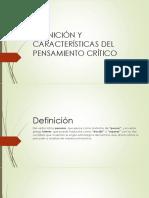 Definición y Características Del Pensamiento Crítico